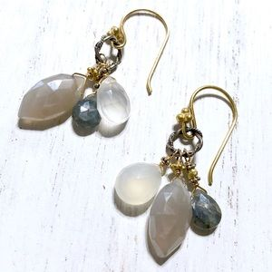 Anthropologie Jewelry - NEW Anthropologie Canyon Lake Drops Earrings Gold